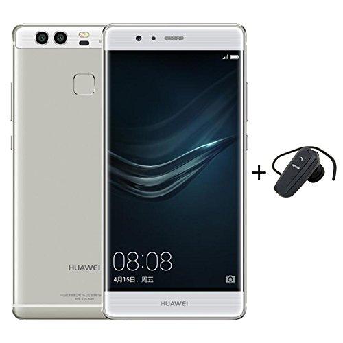 Huawei P9 3+32ギガバイトROMのAndroid6.0スマートフォンシルバー+ BluetoothのイヤホンコンボデュアルSIMフルアクティブ4G LTE EMUI4.1オクタコア2.5GHzの5.2インチFHD8+2*12MP DSFA
