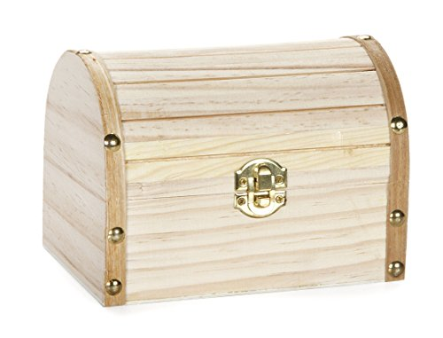 Darice Wood Chest Hinged with Clasp, 6.1 x 4.1 x 4.3-Inch (Chest Wood compare prices)