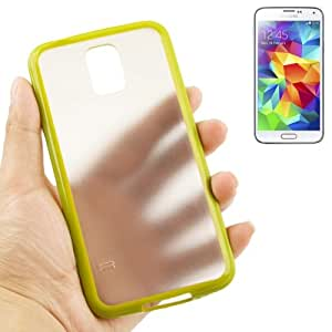 Crazy4Gadget Transparent Frosted Plastic + TPU Frame Case for Samsung Galaxy S5 / G900 (Green)