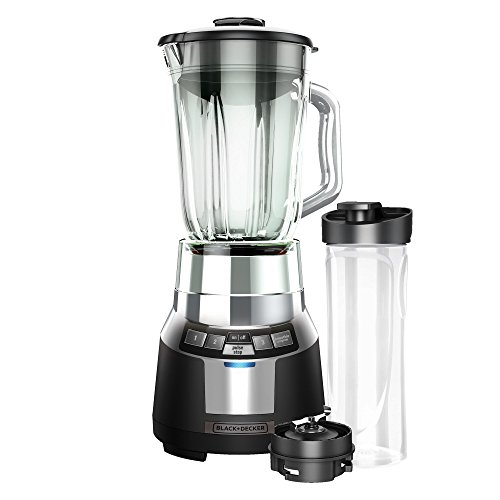 BLACK+DECKER BL1820SG-P FusionBlade Digital Blender with 6-Cup Glass Jar and 20 Ounce BPA-Free Portable Personal Blender Jar, Black/Stainless Steel Blender (Black And Decker Bl1820 compare prices)