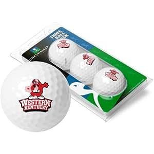 Western Kentucky Hilltoppers NCAA 3 Golf Ball Sleeve Pack