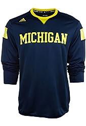 Michigan Wolverines Adidas 2014 Navy Sideline Climalite Long Sleeve T-Shirt