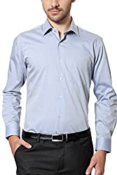Van Heusen Mens Business Shirt (8907355567184_VHSF515M04409_46_Dark Blue)
