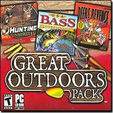 Great Outdoors Pack (Hunting Unlimited, USA Bass Championship, Deer's Revenge) - PC (Jewel case)