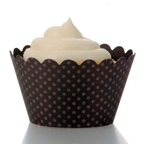 Dress My Cupcake Emma Eggplant Purple Cupcake Wrappers, Set of 12 - Decorations for Cupcake Stands, Cupcake Towers & Cupcake Displays