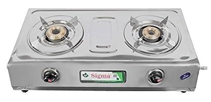 Sigma V2 SS Gas Stove (2 Burner)
