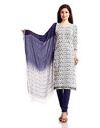 Pinkshink Womens Cotton Unstitched Salwar Suit Dress Material (Psk17 _Beige _Free Size)