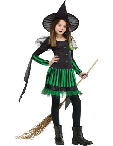 Kids-Costume Wicked Witch Child Costume 4-6 Halloween Costume - Child 4-6