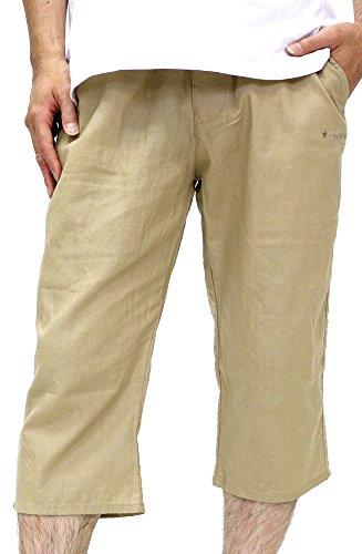 (コンバース) CONVERSE ショートパンツ メンズ ハーフパンツ トレーニング 七分丈 クロップド 麻混素材 イージーパンツ リラックス 夏 3color