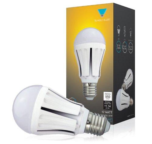 Triangle Bulbs T99009 12 Watt A19 Led Bulb, 75 Watt Incandescent Bulbs Replacement, 950Lm, Samsung Chip Led, Soft White