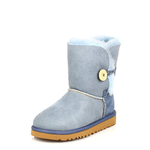 Ugg Australia Bailey Button Enfants Denim Sheepskin Bottes