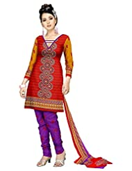 Varshia Women Synthetic Unstitched Salwar Suit