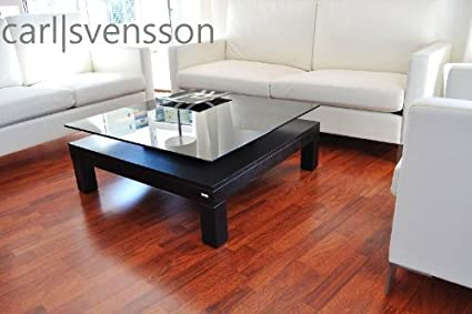 DESIGN COUCHTISCH Tisch V-570H schwarz getöntes Glas Carl Svensson