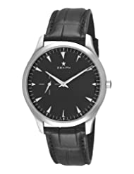 Zenith Men's 03.2010.681/21.c493 Elite Ultra Thin Black Dial Watch