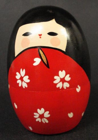 Red Matryoshka Kokeshi Nesting Doll #MD2/R