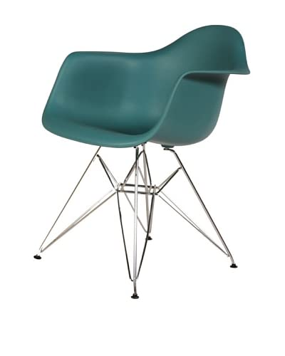 Stilnovo Mid-Century Eiffel Dining Arm Chair, Navy Green