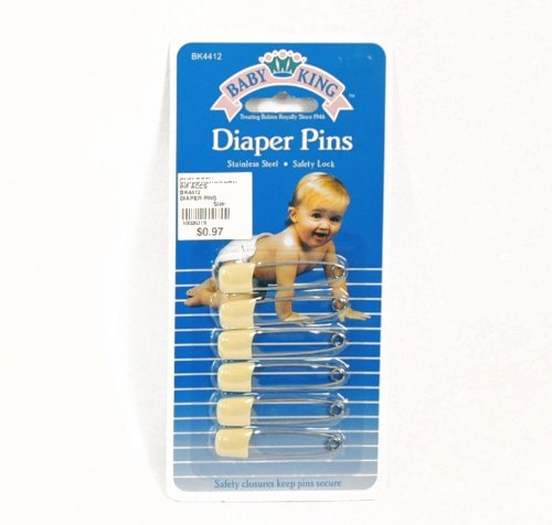 BABYKING DIAPER PINS 6-PACK