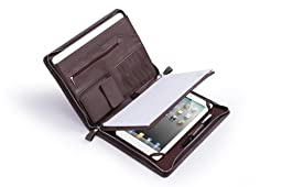 Deluxe Distressed-Look Padfolio for 12.9 inch iPad Pro and Letter / A4 Paper