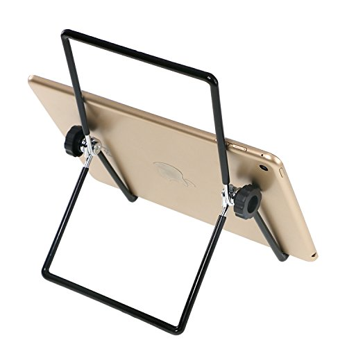ArunnersTM Foldable Tablet Stands Compact Adjustable Portable Metal Holder Cradle for 8-13 Inches Tablets Fits Apple iPad iPad 2 iPad Mini Samsung Tablet Xoom - Black (3 8 Inch Flat Iron compare prices)