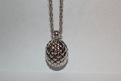 Game of Thrones Inspired Dragons Egg Metal Silver Color Necklace