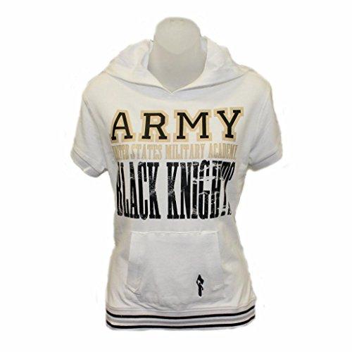 Army White Knights Cap Sleeve Hoodie (White-Medium) *Junior Sizing*