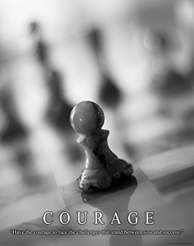 Chess Motivational Poster Art Print 11x14 Board Pieces Clock Books Games Wall Decor Pictures