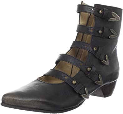 John Fluevog Women's Petrea Ankle Boot,Black,7 M US