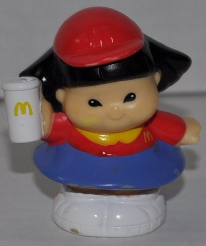 Little People McDonalds Sonya Lee Employee (2004) McD Edition - Replacement Figure Accessory - Classic Fisher Price Collectible Figures - Loose Out Of Package & Print (OOP) - Zoo Circus Ark Pet Castle - 1