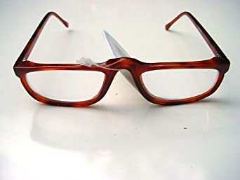 NEW MODERN READING GLASSES MOTTLED BROWN HALF MOON FRAMES ...