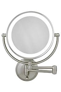 Zadro 10X-1X Next Generation LED Wall Mount Mirror, Satin Nickel