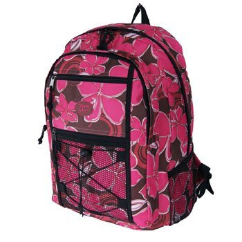 A4 2012 Pour Moi Ladies or Girls Floral Flower Backpack Rucksack with 3 pockets on Front