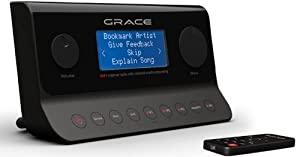 Grace Digital Wireless Internet Radio Receiver Featuring Over 18,000 FREE