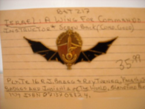 Israel Commando Instructor Wings Pin