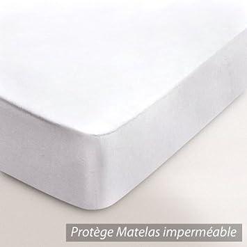 Protège matelas imperméable Arnaud   blanc   90x210: Cuisine &amp