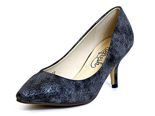 Donna scarpa décolleté grigio, (platin) 62055 NEGRO