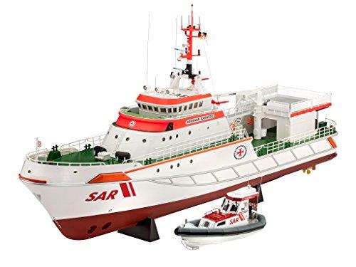 Revell-05220-Modellbausatz-Deutschen-Gesellschaft-zur-Rettung-Schiffbrchiger-Hermann-Marwede-update-2012-im-Mastab-172