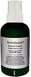 Watts Beauty 1.5% Retinol Face Cream Optimized with Peptides, Matrixyl, Copper & Hyaluronic Acid for Maximum Results - Works Wonders on Aging, Dull Skin, Blemishes, Sagging Skin, Fine Lines, Acne, Uneven Skin Tone & Much More - Made in the USA - 1oz with Treatment Pump