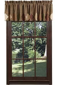 Barrington Valance with Block Border Lined 16x72""