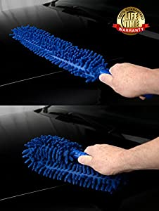 1 FOR THE ROAD Auto - Car Interior & Exterior Microfiber Detail Duster, Long, Washable, Foldable - Flexible, 22 Inches | Lifetime Warranty Available Exclusively on Amazon