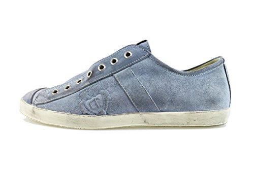 CESARE PACIOTTI sneakers uomo 41 EU celeste camoscio AG42