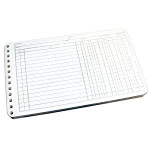 Wilson Jones Ring Ledger Sheets, 5 x 8.5 Inches, 24 Pound Paper, White, 100 Sheets per Pack (W758-50A)