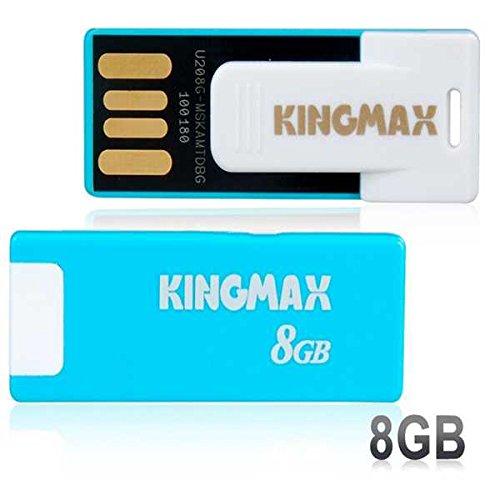 Kingmax Ui-03 Paper-Clip Design Mini 8Gb Usb 2.0 Flash Drive (Blue)
