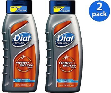 Dial for Men Ultimate Clean Hair Body Wash 16 Fl Oz (473 Ml) ~ Pack of 2 (Dial Mens Hair And Body Wash compare prices)