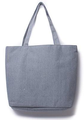 "Craftspeople - Large Carry-all Canvas Bag Shopping Bag Reusable Grocery Bag Eco Friendly Bag - 13"" X 3"" X 13"" - Top Handles, 10"" Drop - 100% Cotton Exterior"