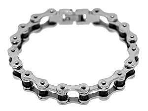 Stainless Steel Two Tone Ladies Bike Chain Bracelet