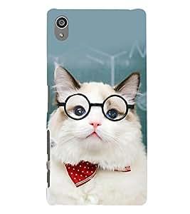 printtech Cat Teacher Back Case Cover for Sony Xperia Z5 Premium Dual