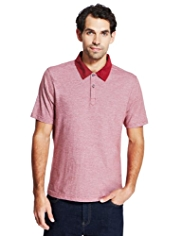 Pure Cotton Striped Polo Shirt with StayNEW™