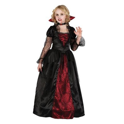 Halloween Princess Vampire Kids Fancy Dress Costume