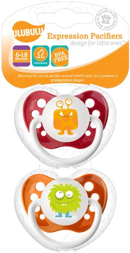 Ulubulu Monster Collection Pacifier Double Pack, 6-18 Months