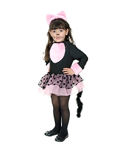 [CHILD Medium 8-10 - Miss Pretty Kitty Costume (Shoes/Makeup/Tights Not Included)] (Child Pretty Kitty Costumes)
